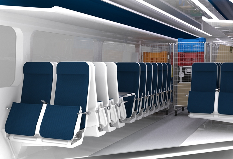 Unused passenger seats can be stowed to create space for cargo, bikes etc.